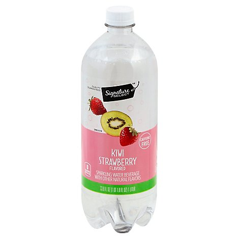 Signature SELECT Water Sparkling Strawberry Kiwi - 1 Liter