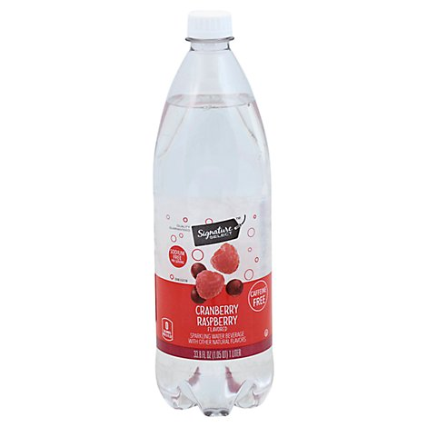 Signature SELECT Sparkling Water Cranberry Raspberry - 33.8 Fl. Oz.
