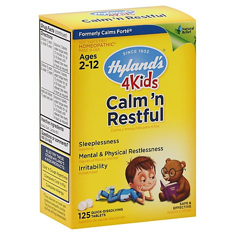 Hylands Calms Forte 4 Kids - 125 Count