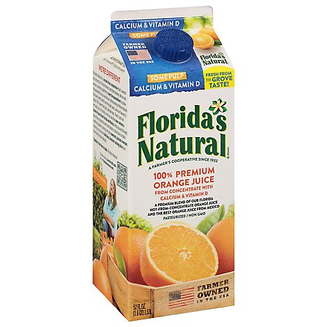 Floridas Natural Orange Juice Some Pulp With Calcium & Vitamin D Chilled - 52 Fl. Oz.
