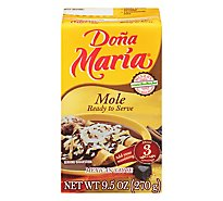 DONA MARIA Sauce Mexican Mole Ready to Serve Brick - 9.5 Oz