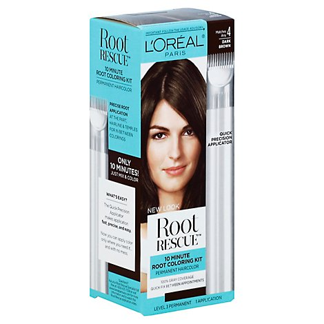 LOreal Root Rescue Hair Color With Quick Precision Applicator Dark Brown 4 - Each