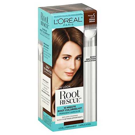 Root Rescue Hair Color With Quick Precision Applicator Medium Brown 5 - Each