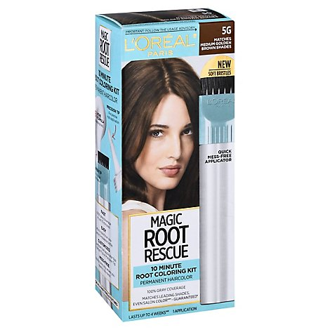 Root Rescue Hair Color With Quick Precision Applicator Medium Golden Brown 5G - Each