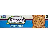 Miltons Everything Multi Grain Gourmet Crackers - 12-8.3 Oz