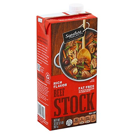 Signature SELECT Cooking Stock Beef - 32 Oz