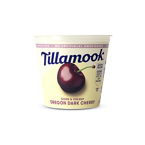 Tillamook Yogurt Low Fat Dark Cherry - 6 Oz
