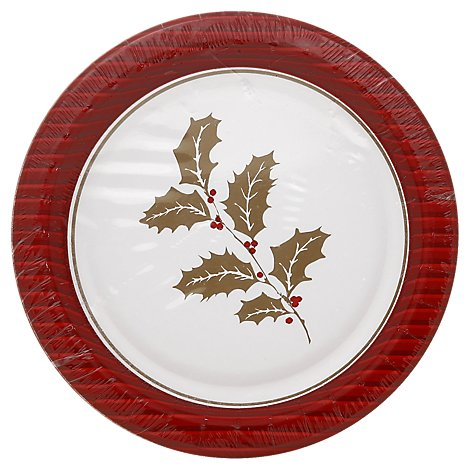 Fresh Decor Plate Dessert 6.75 Inch Wintertide - 8 Count