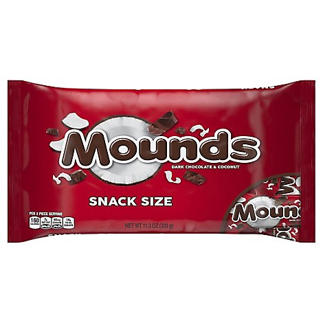 Mounds Candy Bar Dark Chocolate & Coconut Snack Size - 11.3 Oz