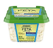 Athenos Cheese Feta Crumbled Reduced Fat - 5 Oz