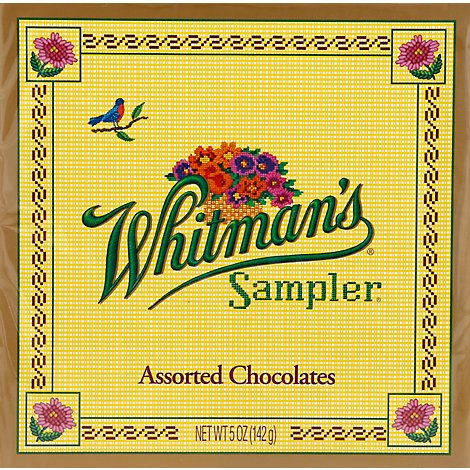 Whitmans Chocolates Sampler Heart Box Assorted - 3.25 Oz