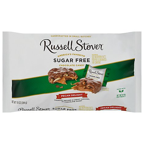 Russell Stover Sugar Free Pecan Delight Laydown Bag - 10 Oz