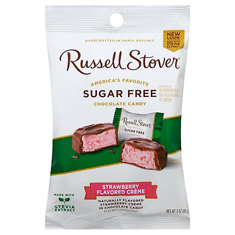 Russell Stover Chocolate Strawberry Cream Covered with Chocolate Candy - 3 Oz