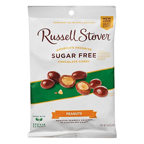 Russell Stover Sugar Free Panned Peanuts - 3.6 Oz