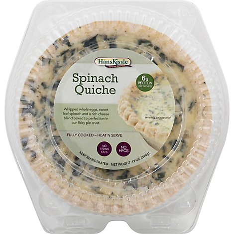 Hans Kissle Spinach Quiche - 12 Oz