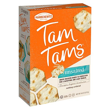 Tam Tams Unsalted Tam Tam Cracker - 9.6 Oz