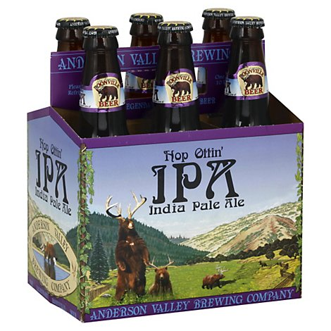 Anderson Valley Brewing Beer Hop Ottin IPA Bottles - 6-12 Fl. Oz.