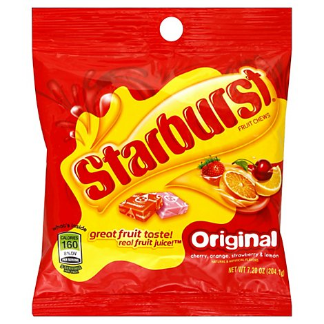 Starburst Candy Fruit Chews Original Pegbag - 7.5 Oz