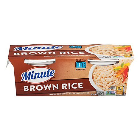 Minute Ready to Serve! Rice Microwaveable Brown Rice Whole Grain Cup - 8.8 Oz