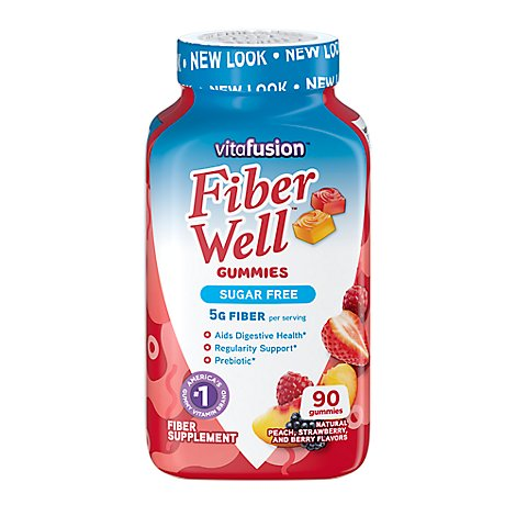Vitafusion Dietary Supplement Gummy Sugar Free Peach/Strawberry/Berry - 90 Count