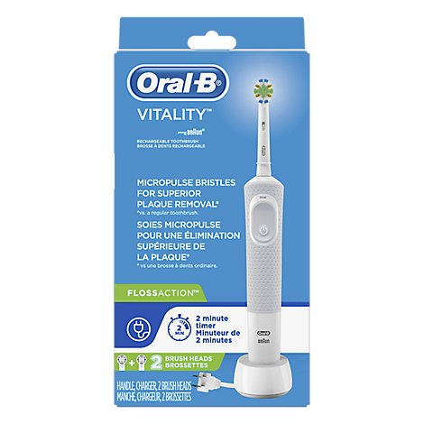 Oral-B Electric Rechargeable Toothbrush Vitality Floss Action - 1 Count