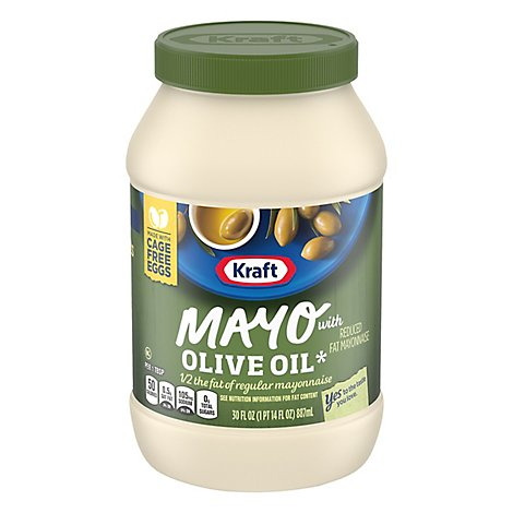 Kraft Mayo Mayonnaise Reduced Fat with Olive Oil - 30 Fl. Oz.