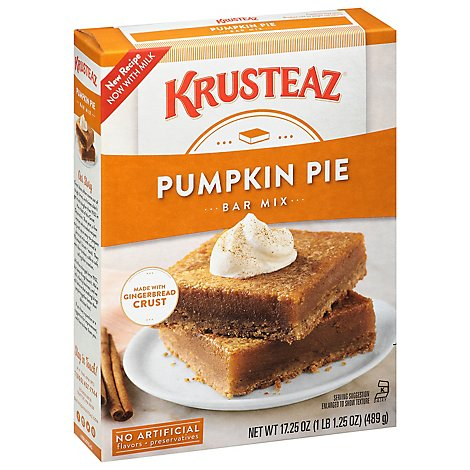 Krusteaz Mix Supreme Bar Pumpkin Pie - 17.25 Oz