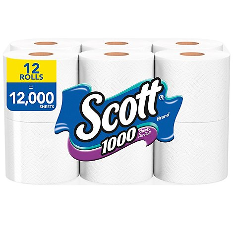 Scott Bathroom Tissue 1 Ply Unscented - 12 Roll