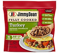 Jimmy Dean Sausage Crumbles Hearty Turkey Fully Cooked - 9.6 Oz