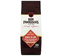 Don Franciscos Coffee Family Reserve Coffee Ground Medium Roast Kona Blend - 12 Oz