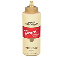 Torani Sauce Authentic Coffeehouse Flavor Chocolate White - 16.5 Oz