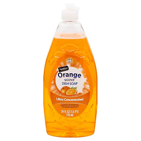 Signature SELECT Dishwashing Liquid & Hand Soap Ultra Concentrated Orange Scent - 24 Fl. Oz.
