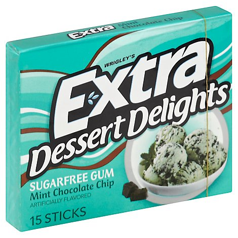 Extra Gum Dessert Delights Mint Chocolate Chip Sugarfree - 15 Piece