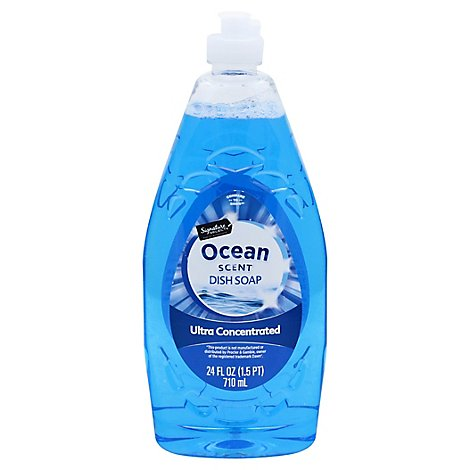 Signature SELECT Dishwashing Liquid Ultra Concentrated Ocean Blue - 24 Fl. Oz.