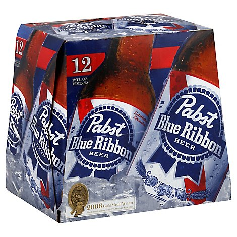 Pabst Blue Ribbon Beer Original Bottle - 12-12 Fl. Oz.