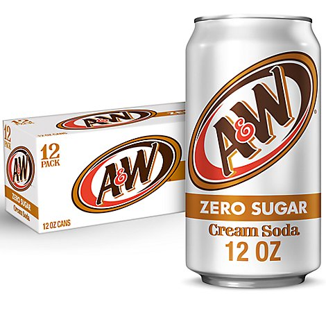 A&W Soda Diet Cream - 12-12 Fl. Oz.