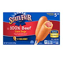 State Fair Corn Dogs 100% Beef 5 Count - 13.35 Oz