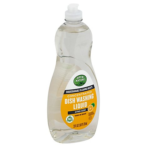 Open Nature Dishwashing Liquid Concentrated Citrus Bottle - 25 Fl. Oz.
