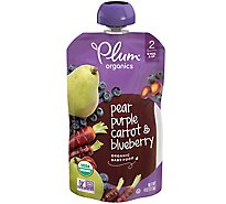Plum Organics Baby Food Stage 2 Blueberry Pear & Purple Carrot - 4.22 Oz
