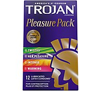 Trojan Condoms Pleasure Pack Lubricated - 12 Count