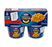 Kraft Macaroni & Cheese Dinner Triple Cheese Cup - 4-2.05 Oz
