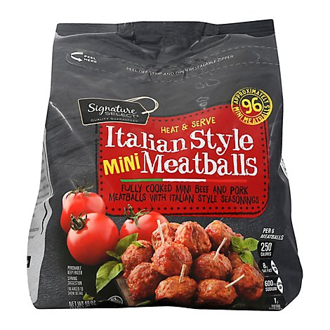 Signature SELECT Meatballs Italian Style Mini Party Size - 48 Oz