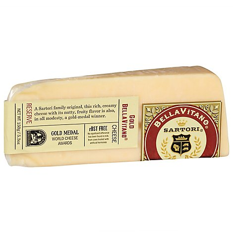 Sartori Gold Bellavitano Cheese Wedge - 5.3 Oz.