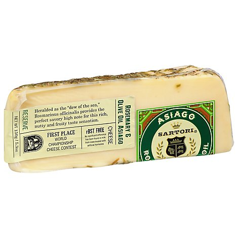 Sartori Cheese Asiago Rosemary and Olive Oil - 5.3 Oz