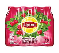 Lipton Iced Tea White Tea Raspberry - 12-16.9 Fl. Oz.