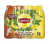 Lipton Iced Tea Half & Half Lemonade - 12-16.9 Fl. Oz.