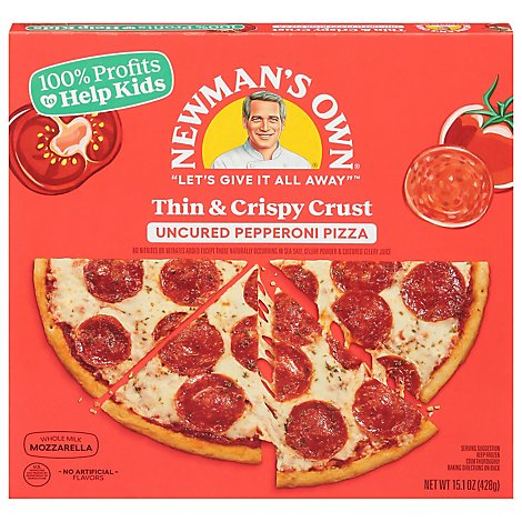 Newmans Own Pizza Thin & Crispy Pepperoni Frozen - 13.2 Oz