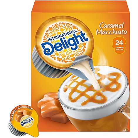 International Delight Coffee Creamer Caramel Macchiato Singles - 24 Count