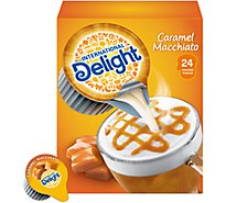 INTERNATIONAL Delight Coffee Creamer Singles Mini I.D.s Caramel Macchiato - 24 Count