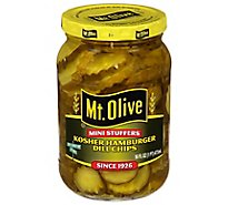 Mt. Olive Pickles Chips Hamburger Dill Mini Stuffers - 16 Fl. Oz.